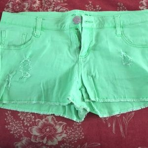 The 21 lime green shorts